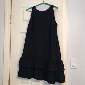 Drop waist black dress